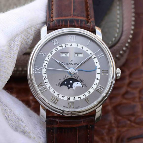 OM厂宝珀villeret经典6654月相显示系列 宝珀6654最强V2升级版