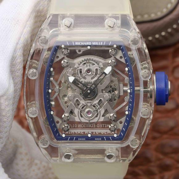 理查德米勒RM 56-01手动机械男士手表 透明机械表