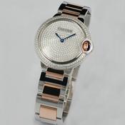 卡地亚蓝气球系列中性手表 满天星奢华镶钻手表 男女均可 18K玫瑰金男表/女表